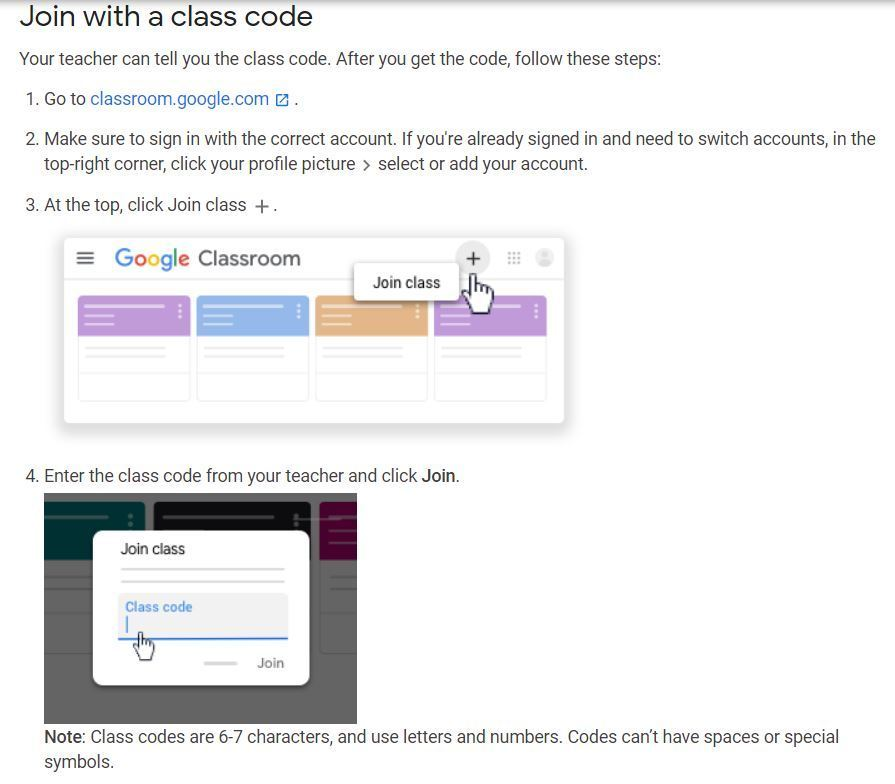 How to Join a Google Classroom
